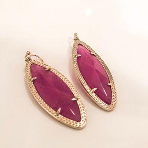 Kendra Scott purple & gold drop earrings
